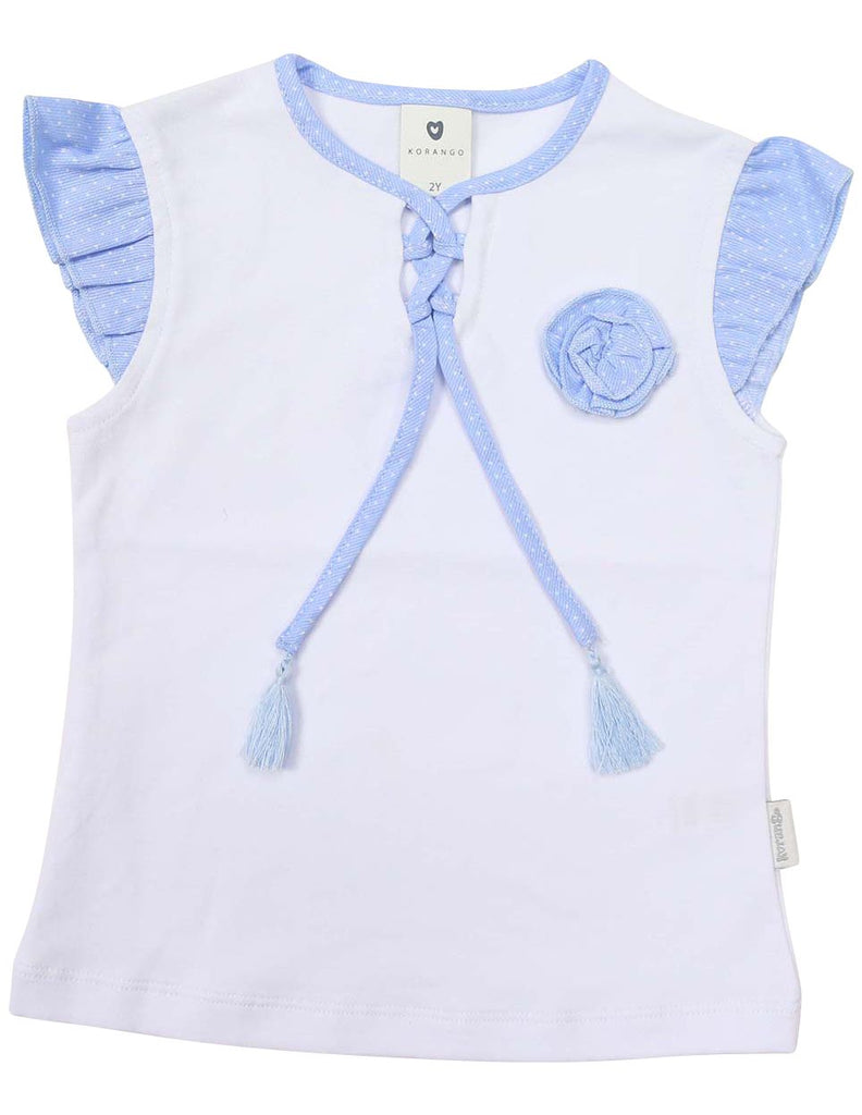 A1243W Daisy Blouse-Tops-Korango_Australia-Kids_Fashion-Children's_Wear
