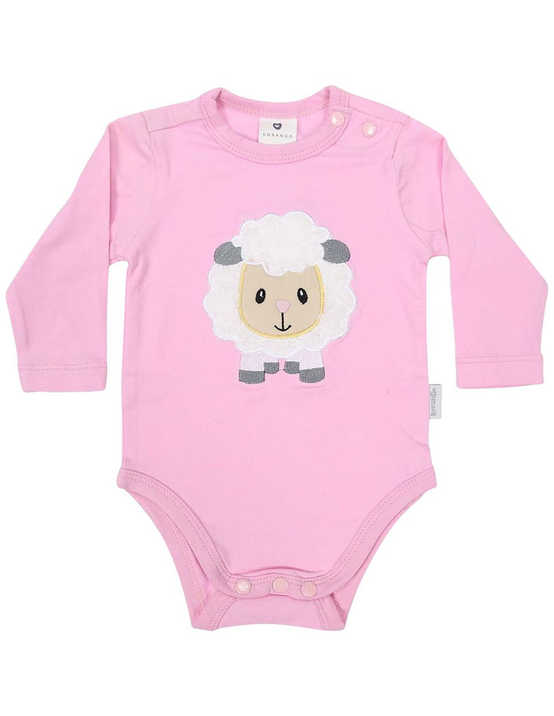 B13025P Baa Baa White Sheep Bodysuit with Applique