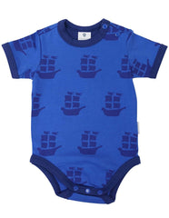B1204B Pirate Ships Bodysuit-All In Ones-Korango_Australia-Kids_Fashion-Children's_Wear