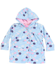 A1342B Rainwear Raincoat Cloud Print  French Terry Lined