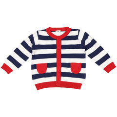 C1418N Nautical Stripes Cardigan