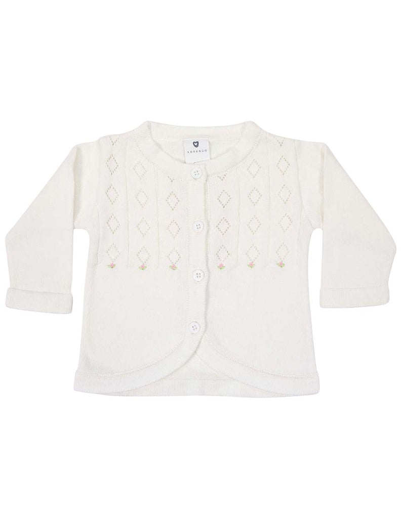 C13001I Timeless Hand Embroidered Knit Cardigan