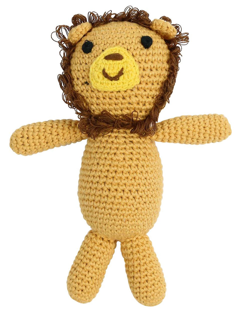 B13028L  Essentials Lion Hand Crocheted Toy