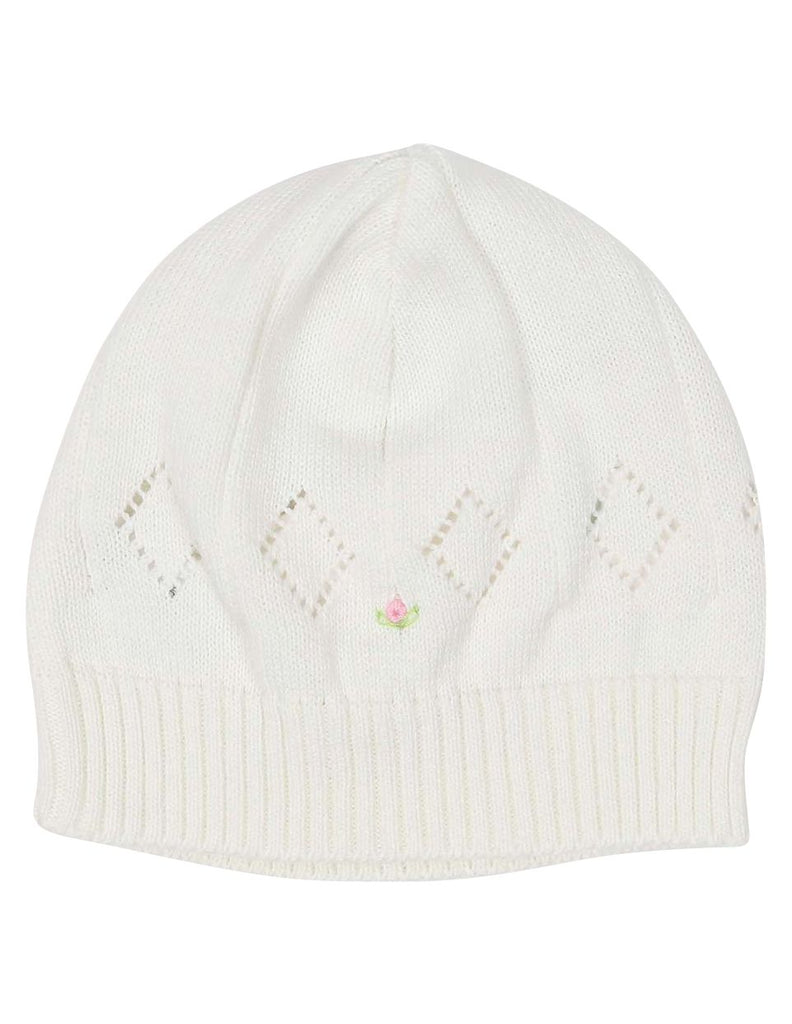 C13005I  Timeless Hand Embroidered Knit Beanie