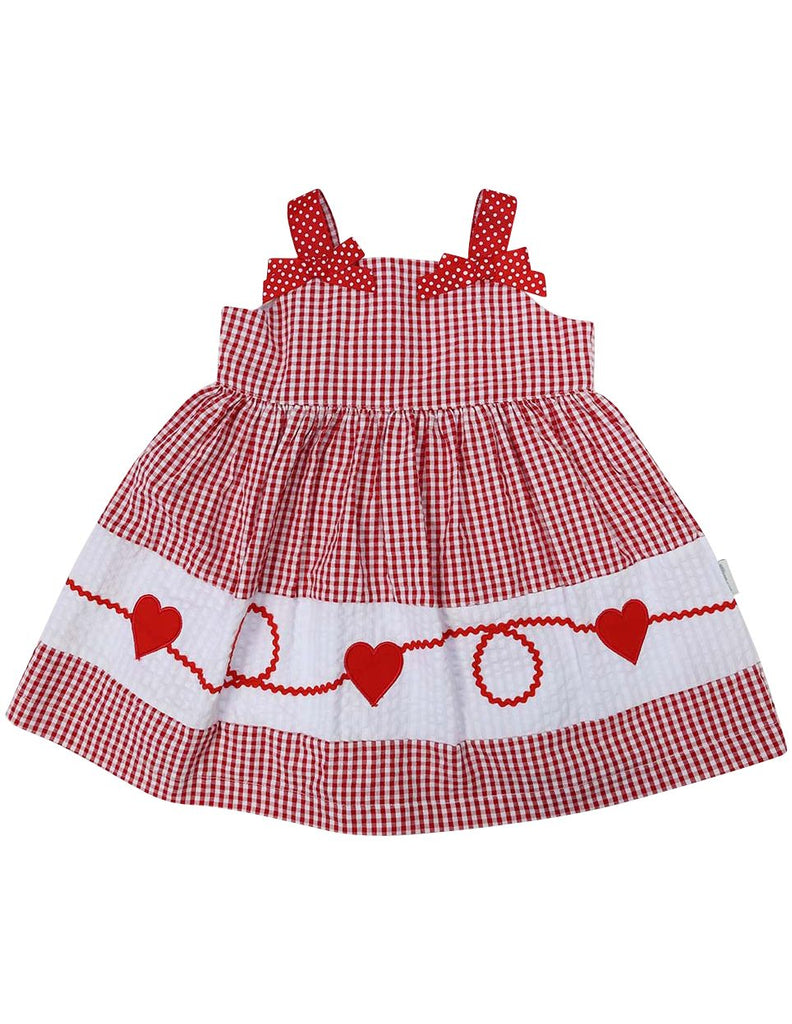 A1216R Seersucker Heart Dress