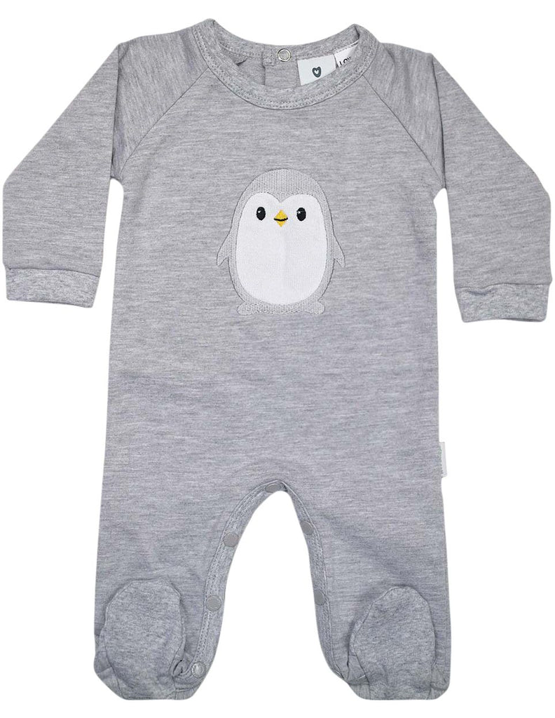 B13018G  Baby Penguin Long Sleeve Romper