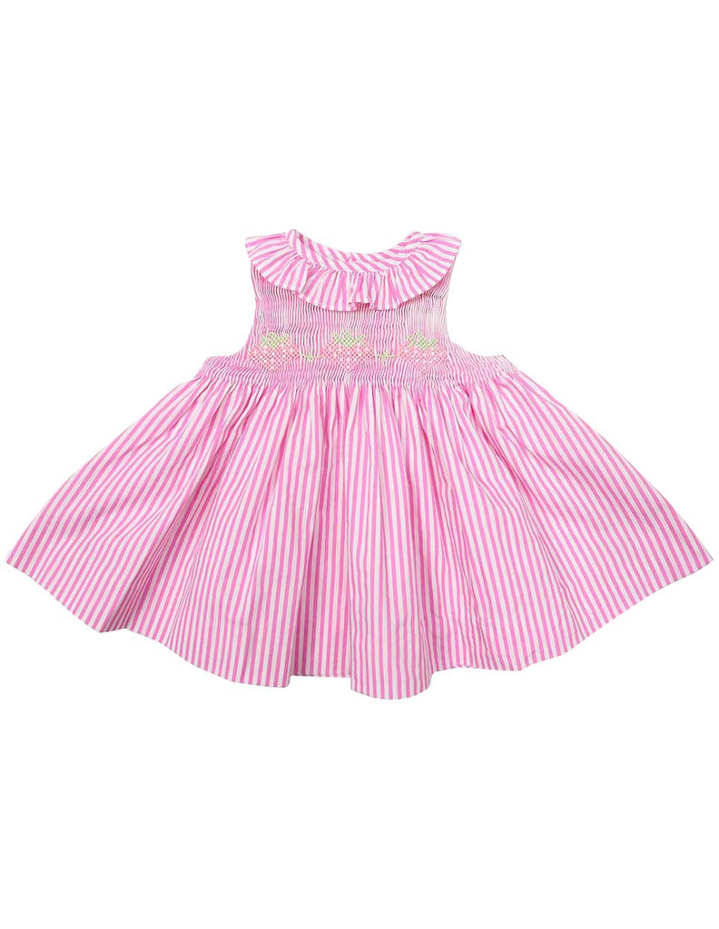 C1224P Strawberry Frill Dress-Dress-Korango_Australia-Kids_Fashion-Children's_Wear