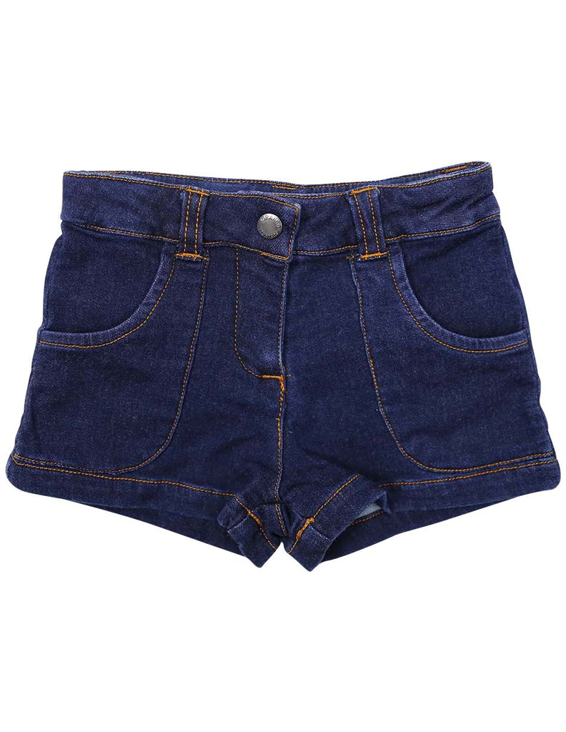 A1238D Denim Knit Short-Pants & Shorts-Korango_Australia-Kids_Fashion-Children's_Wear