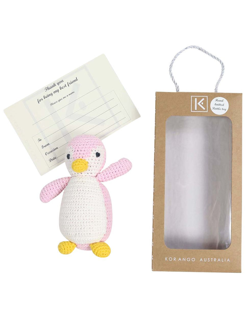 B13030P Essentials Penguin Hand Crocheted Toy