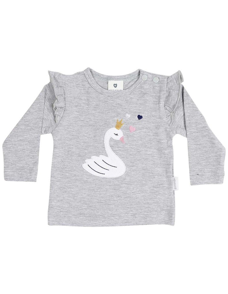 B13011G  Swan Princess Applique Top