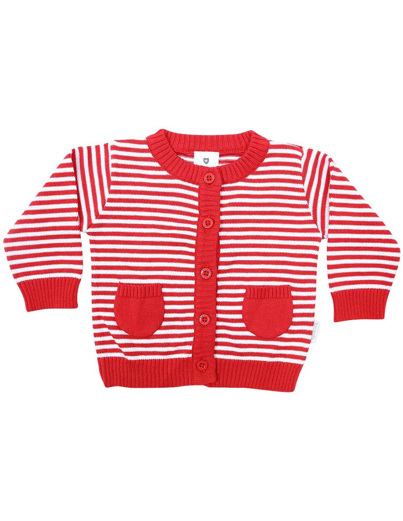 B1219R Striped Cardigan