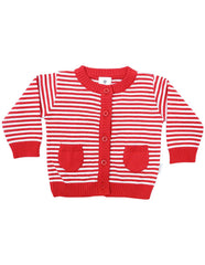 B1219R Striped Cardigan-Cardigans/Jackets/Sweaters-Korango_Australia-Kids_Fashion-Children's_Wear