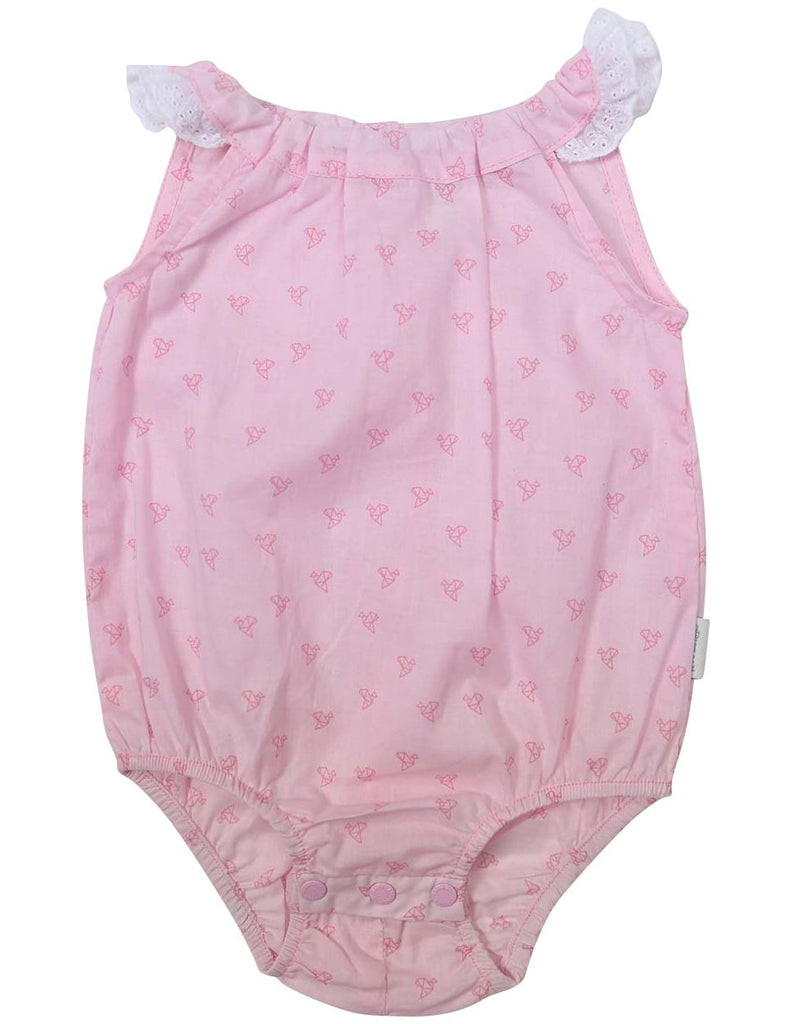 B1225P Origami Cotton Sunsuit-All In Ones-Korango_Australia-Kids_Fashion-Children's_Wear