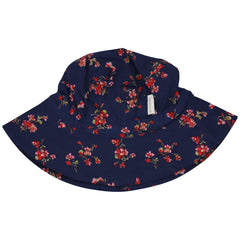 C1425N Navy Floral Floral Sunhat