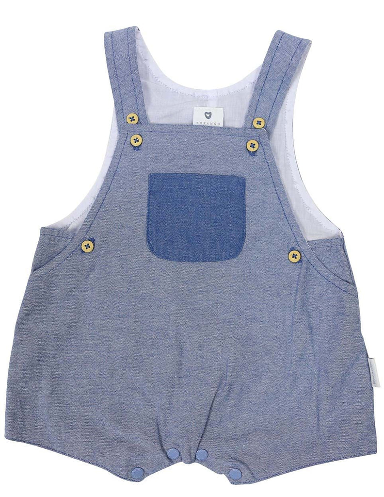 B1210L Chambray Sunsuit-All In Ones-Korango_Australia-Kids_Fashion-Children's_Wear