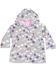 A1342G Rainwear Raincoat Cloud Print French Terry Lined