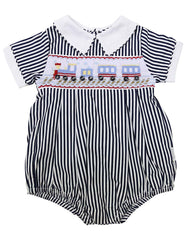 C1221N Train Sunsuit-All In Ones-Korango_Australia-Kids_Fashion-Children's_Wear