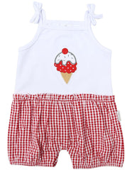 B1218R Ice Cream Playsuit-All In Ones-Korango_Australia-Kids_Fashion-Children's_Wear