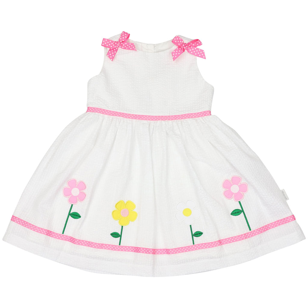 A1440W Flower Seersucker Dress