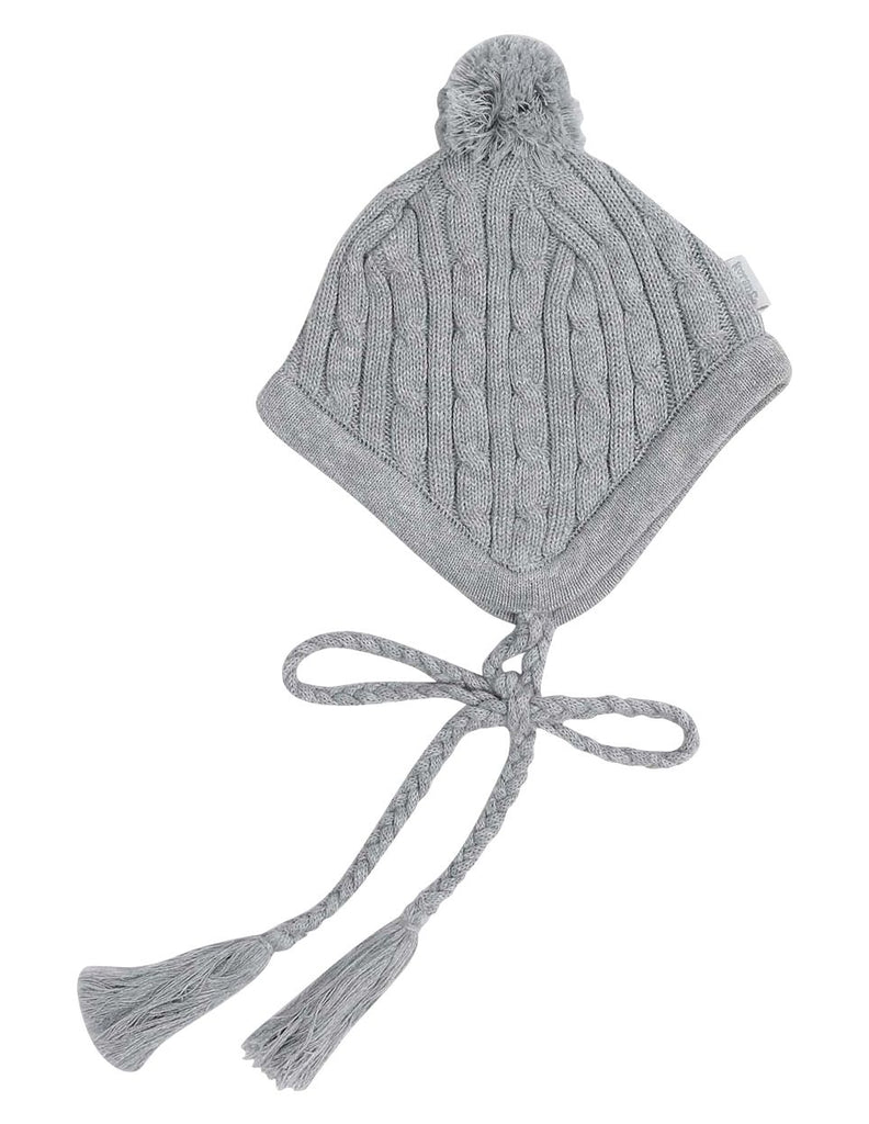 A1338G Stars Lined Cable Knit Beanie