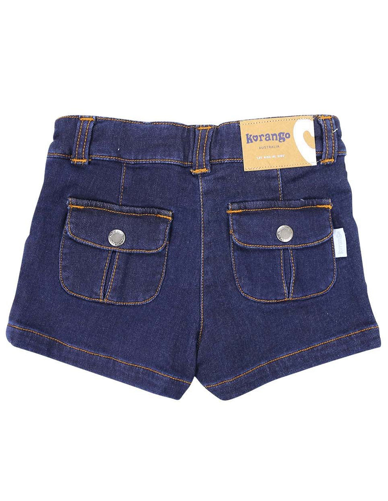 A1228D Denim Knit Short-Pants & Shorts-Korango_Australia-Kids_Fashion-Children's_Wear