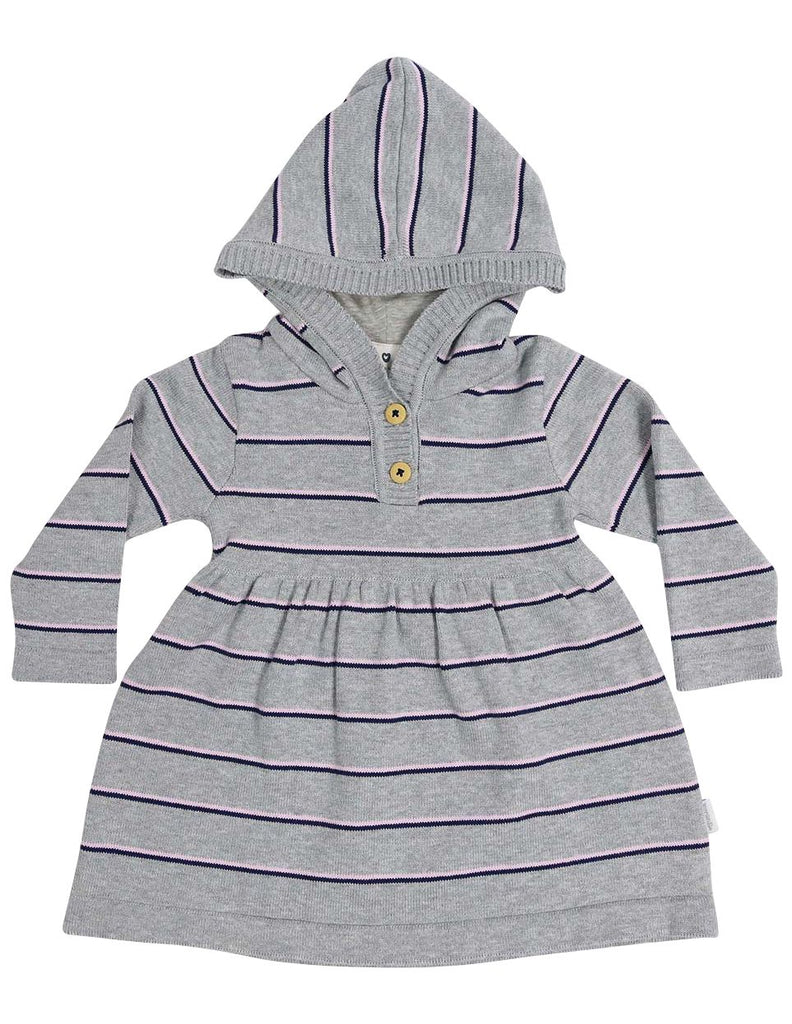 A1335G Stars Stripe Hooded Knit Dress