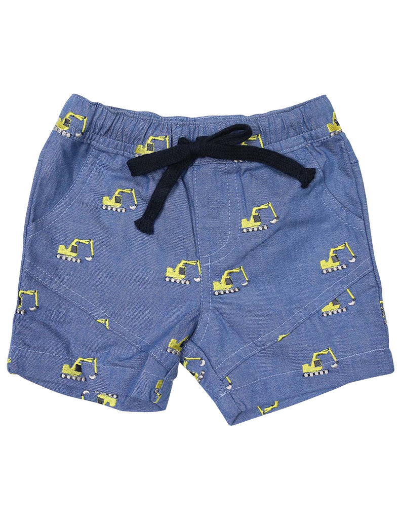 A1405C Excavators Chambray Shorts