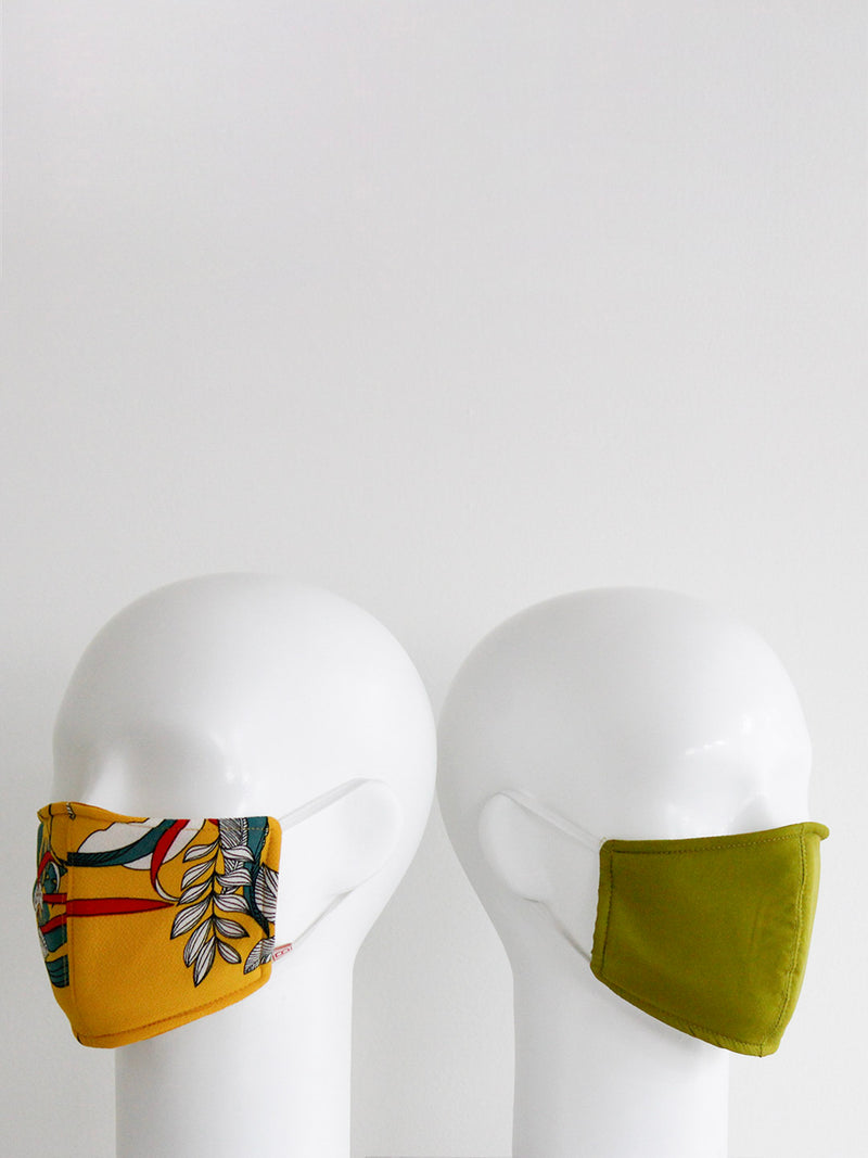 Floral Mustard Mask- set of 2