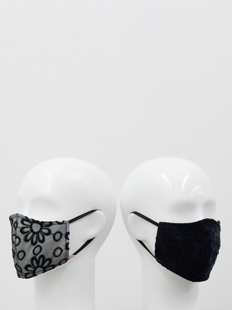 Graceful Black Mask- set of 2