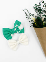 Earthy Green Bow- Set of 2
