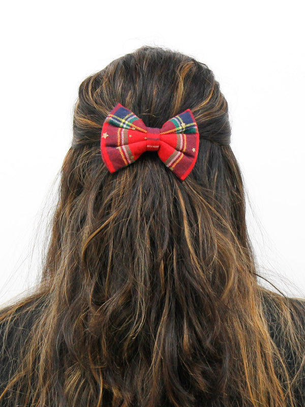 Red Star Check Bow