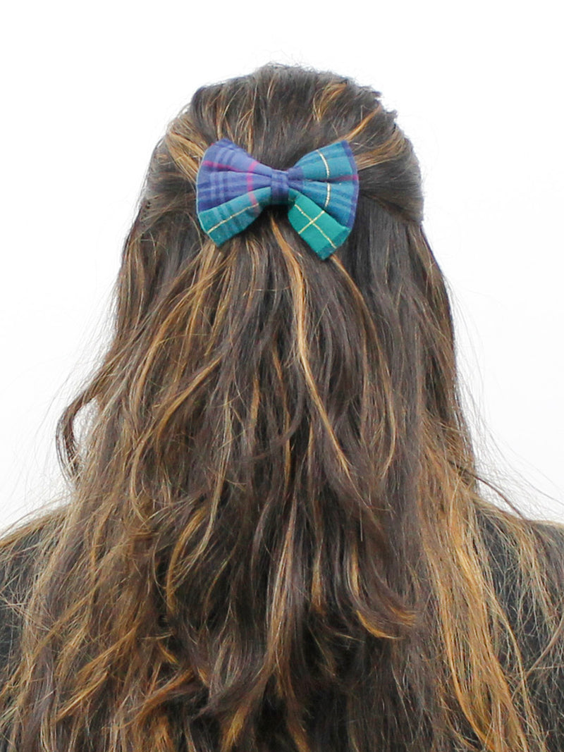 Green Check Bow