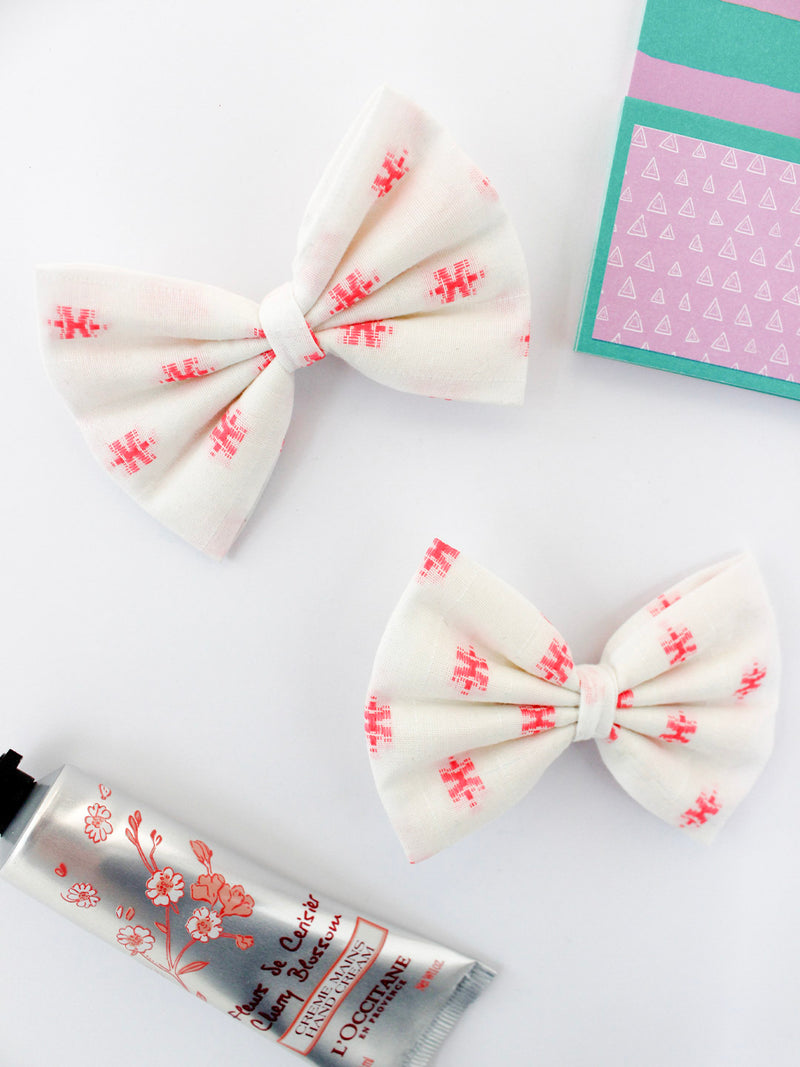 Pink Dobby Bow- Set of 2
