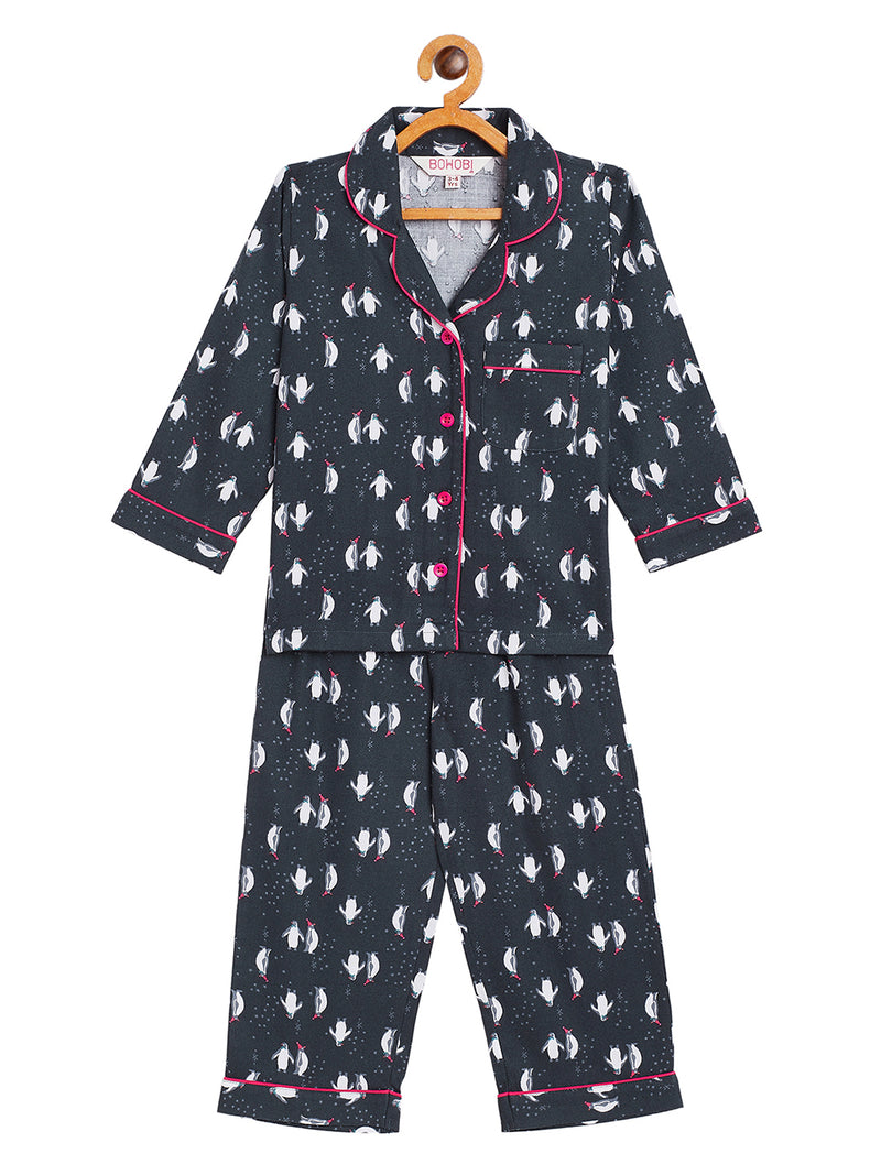 Playful Penguin Kids Night Suit