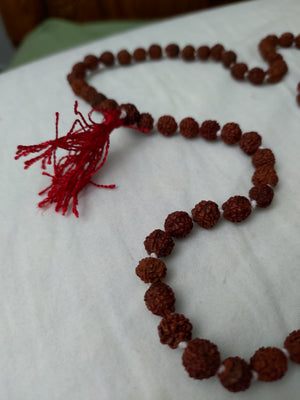 Authentic Balinese Rudraksha Mala Necklace (108 Beads)