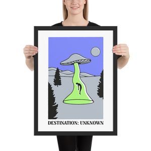 Destination U (Framed Poster 18x24)
