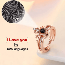 "100 Languages ""I LOVE YOU"" Ring,Necklace (Ring is adjustable)"