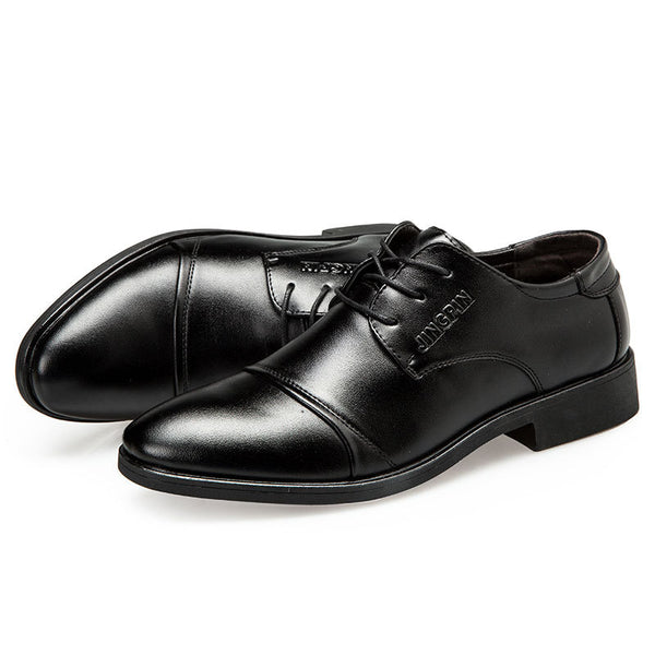 Pánska módna obuv Business Oxfords Lace up Shoes