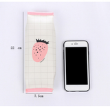 Cute Cartoon StrawBerry Pencil Case PU Big Pencil Bag Office School Stationery