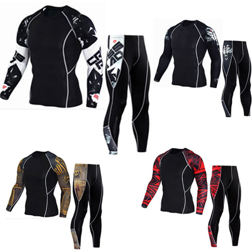 Long Sleeve T-shirt Men's Compression Shirts Fitness Bodybuilding