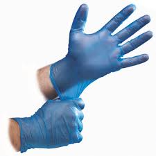 F015 - Gloves Vinyl Powdered Blue