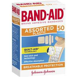 B835 - Band-Aid Plastic Kitchen 50Pk