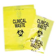B550 - Bags Clinical Waste Yellow 50L