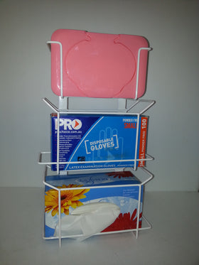 E298 - Dispenser Triple Glove Tissue Wipes