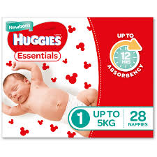 B010 - Nappies Huggies Essential Newborn 112