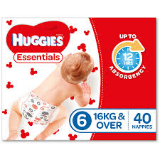 B039 - Huggies Nappy Essential Junior 40x4