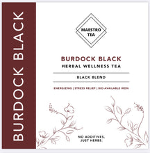Load image into Gallery viewer, Burdock Black - The perfect daily herbal black tea flavoured by delicious dark berry undertones