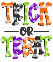 Trick Or Treat Stripes and Dots