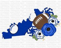 Kentucky Football with Flowers