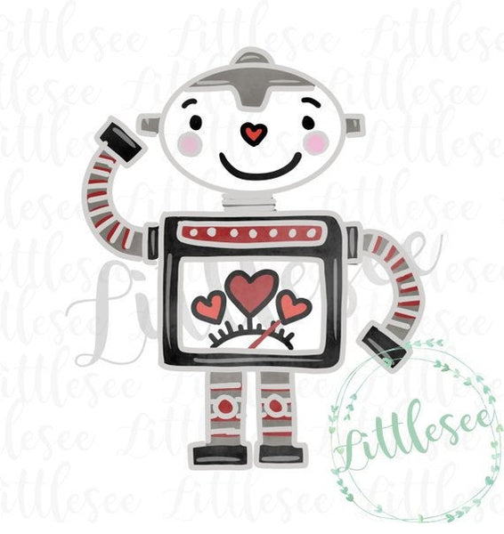 Heart Robot Valentine's Day